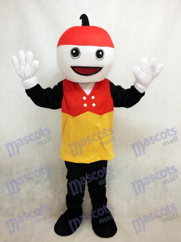 Costume de mascotte Sparky avec le chapeau rouge