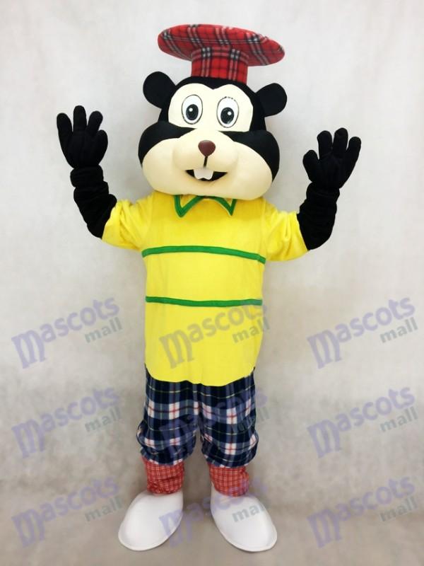 Nouveau golf Gopher en costume de mascotte de chemise jaune
