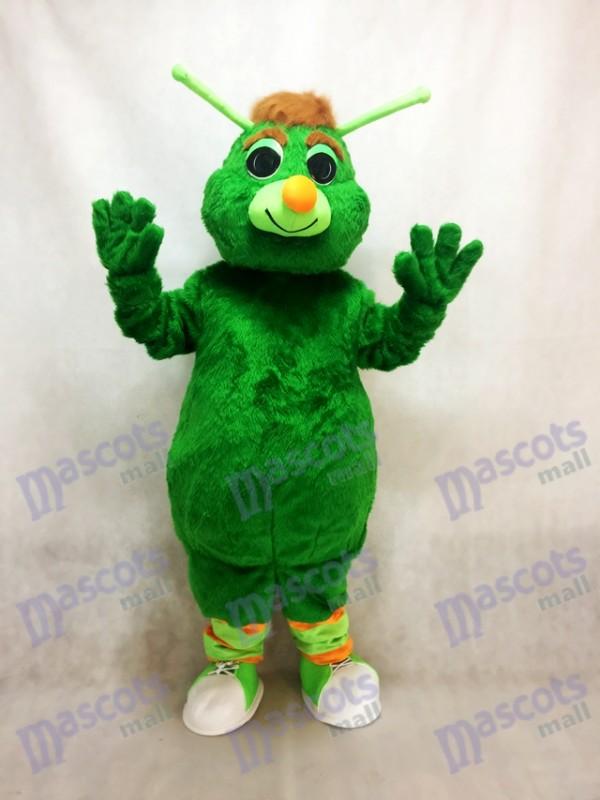 Costume de mascotte verte Grasshopper drôle