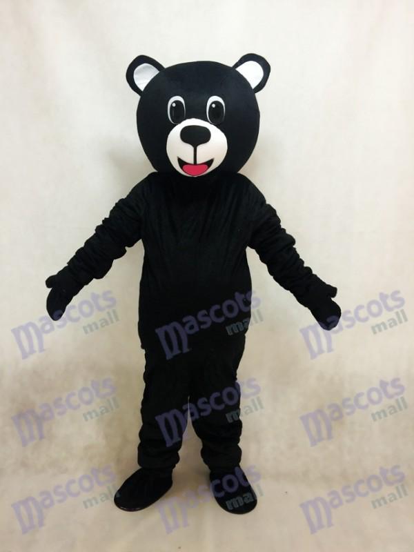 Nouveau costume de mascotte de l'ours chanceux noir