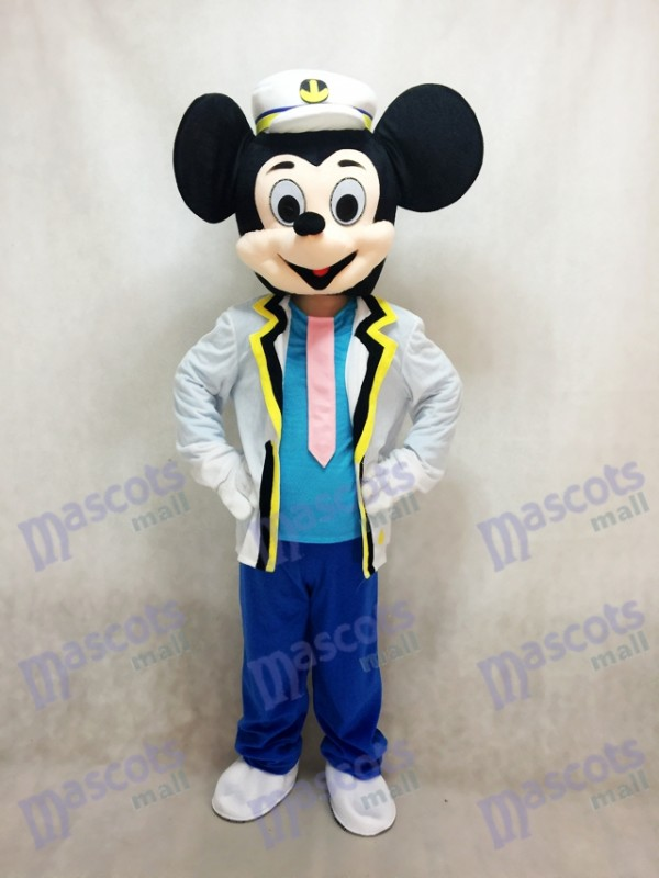 Nouveau Costume adulte de mascotte de Mickey Mouse de marine