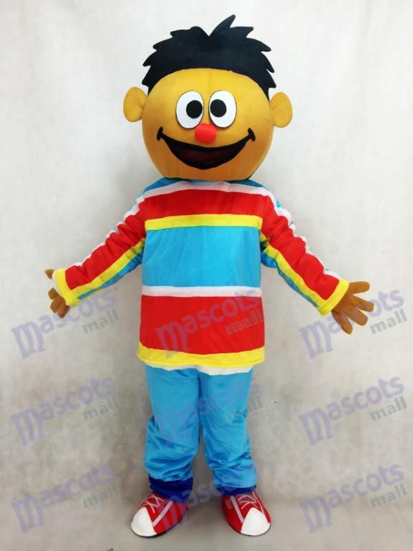 Orange Sésame Street Ernie costume de mascotte adulte