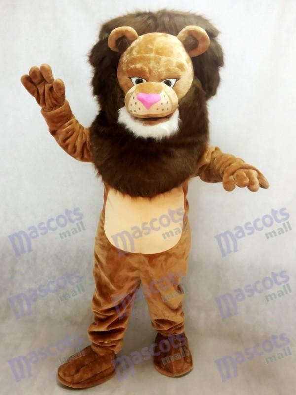 Nouveau Costume Féroce Wally Lion Mascotte Animal