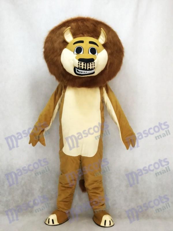 Lion à Madagascar Mascotte Costume Animal de bande dessinée