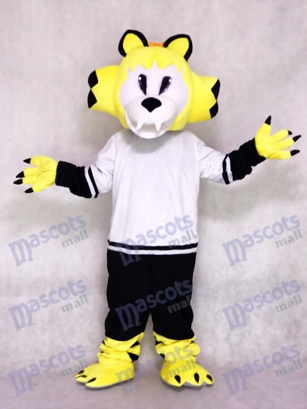 Nashville Predators Costume de mascotte de l'équipe de hockey sur glace Jaune Chat à dents de sabre