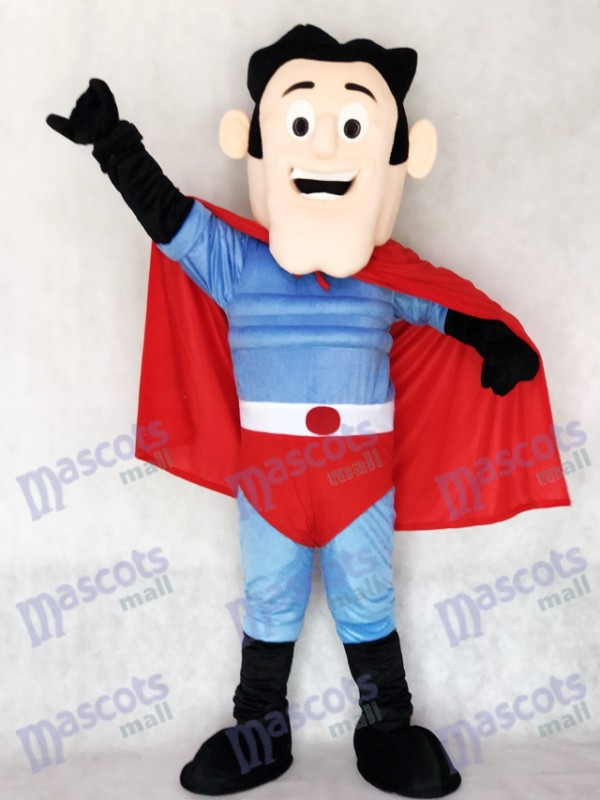 Nouveau super héros avec le costume de mascotte du Cap Rouge