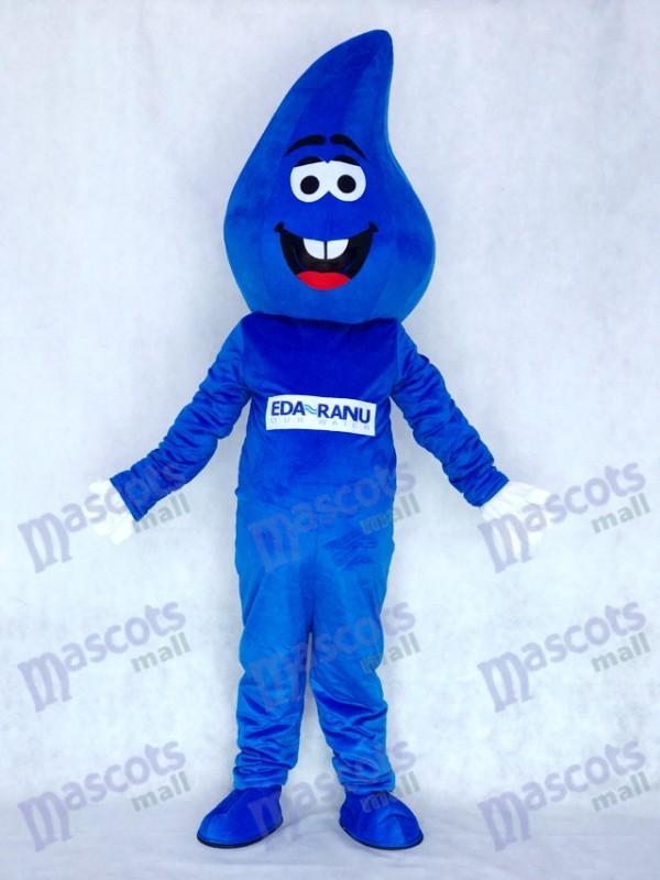 Costume de mascotte RainDrop bleu goutte d'eau