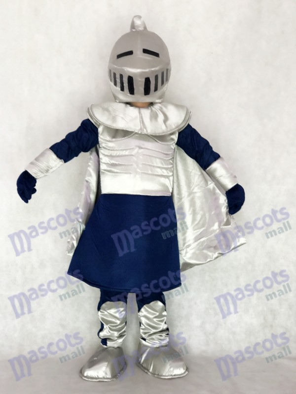 Chevalier argenté avec casque Costume de mascotte