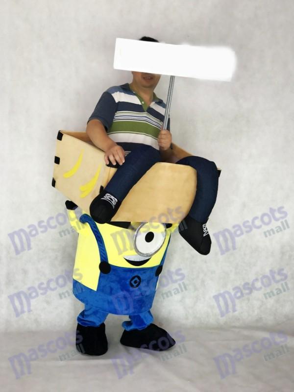 Minions méprisables moi Piggyback Carry Me Ride sur un Costume de mascotte Minions One Eye