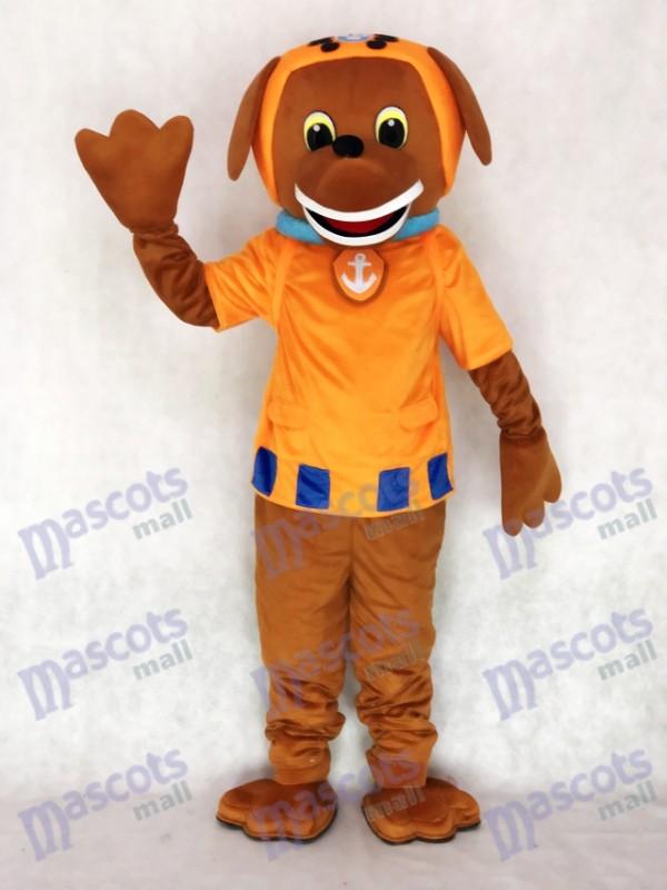 Orange Suit Labrador Pup Water Rescuer Paw Patrol Zuma Dog Mascot Costume