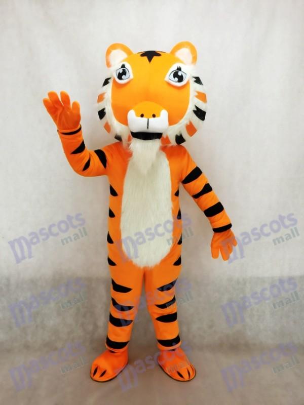 Costume de mascotte de tigre jaune indien mignon