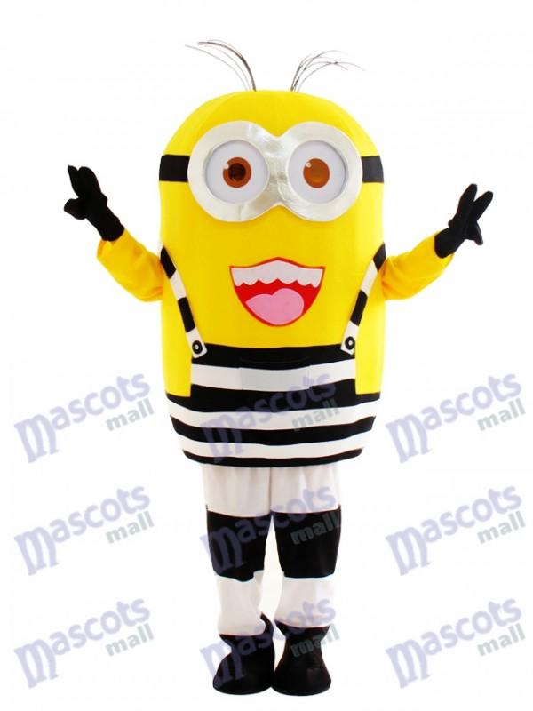 Heureux Minion en prison Dessin animé de mascotte méprisable Moi