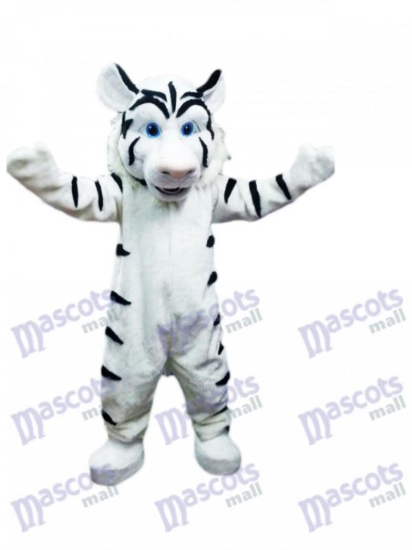 Costume de mascotte tigre blanc Animal