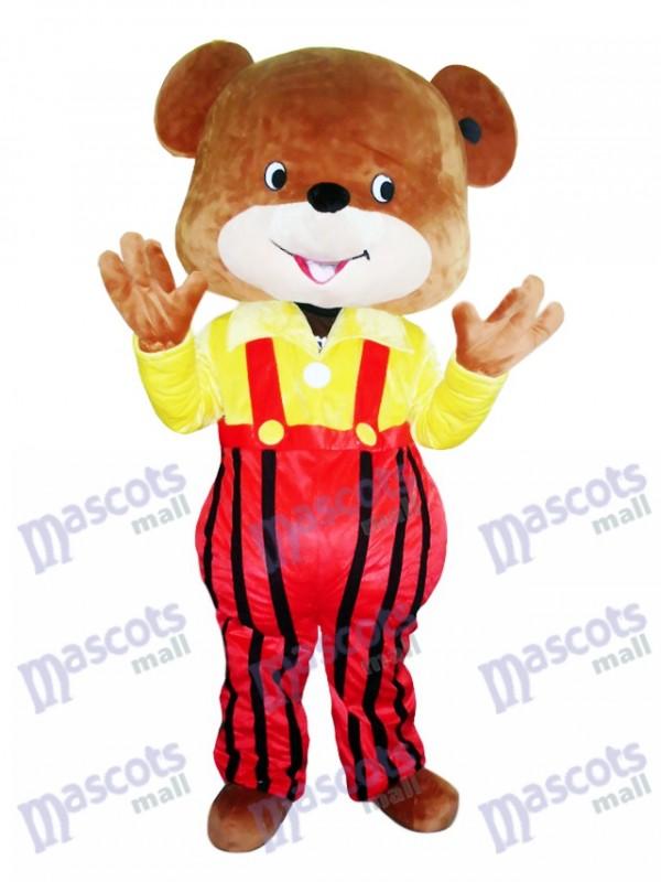 Costume de mascotte d'ours jaune manteau de mascotte Cartoon animal