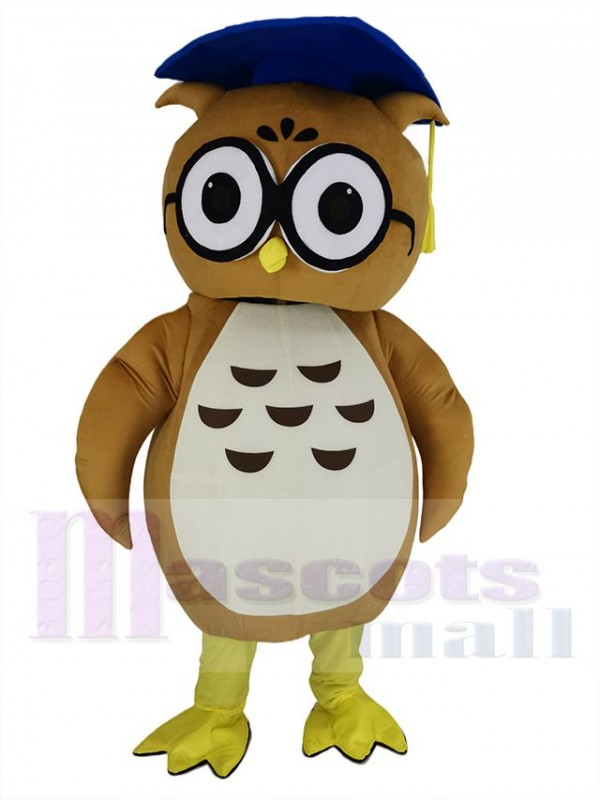 Chouette maskottchen kostüm