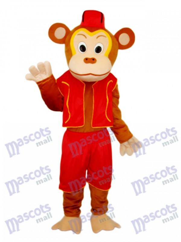 Costume de mascotte de singe clown adulte