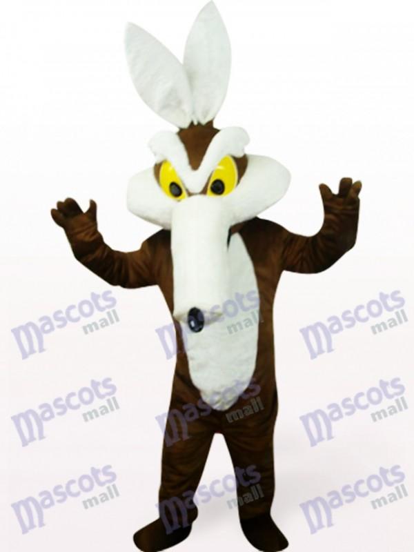 Costume de mascotte de monstre dans les vêtements bruns