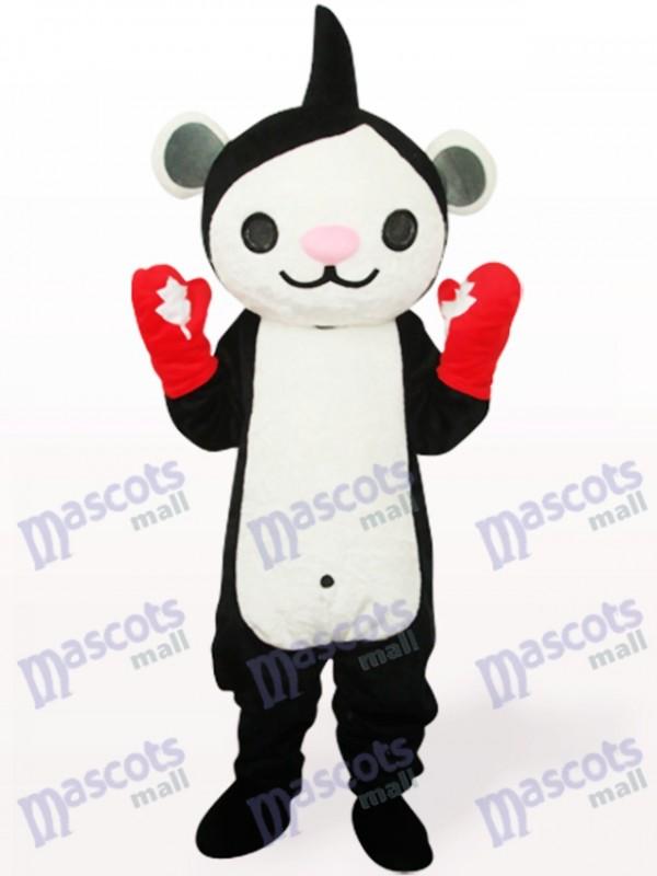 Costume de mascotte adulte noir Miga Anime