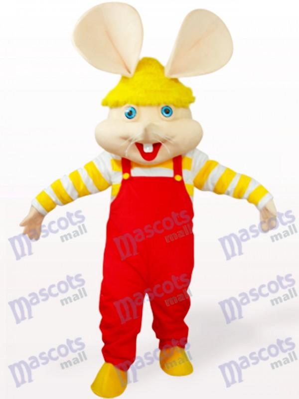 rouge Gros Visage Costume de mascotte animal souris
