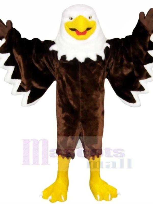 Souriant marron Aigle Costumes De Mascotte Animal