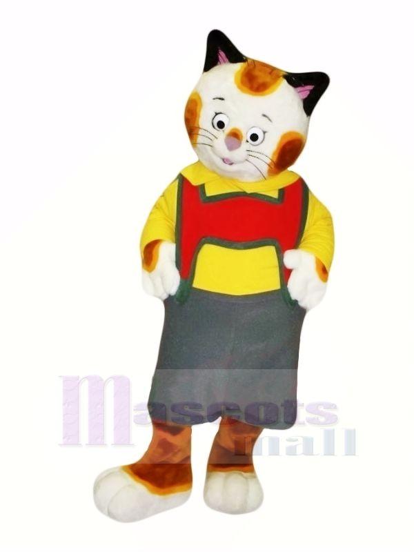 Mignonne Modèle Chat Mascotte Les costumes Dessin animé