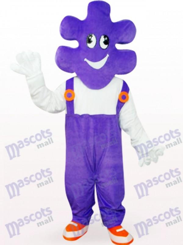 Costume de mascotte adulte mascotte mauve de dessin animé