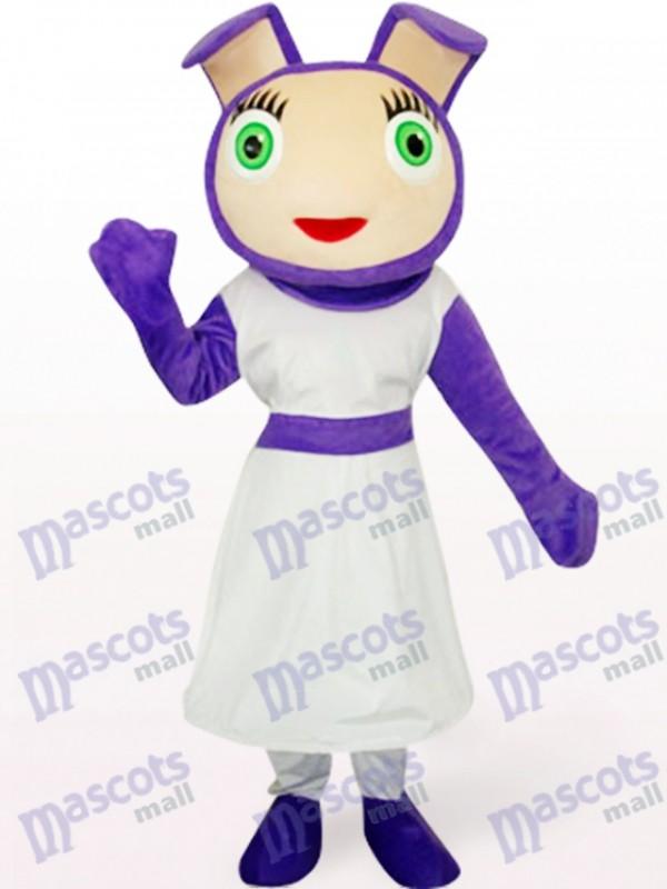 33/5000 Costume de mascotte animal mignonne pourpre