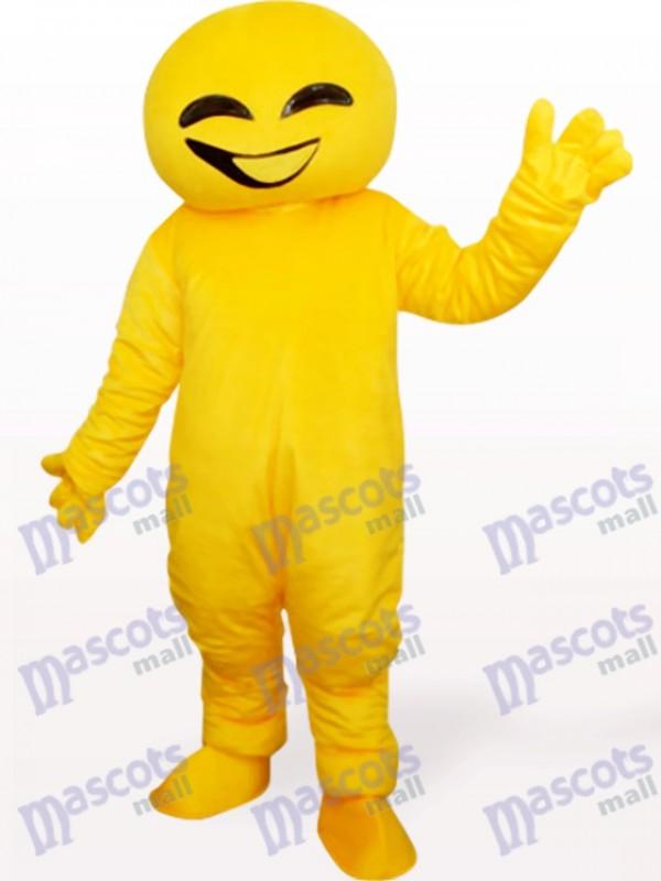 Costume de mascotte adulte jaune poupée animal