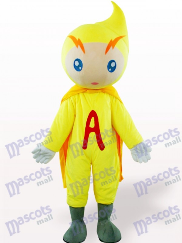 Déguisement de mascotte adulte jaune Volt-Ampère Cartoon