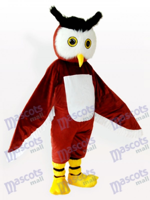 Costume de mascotte adulte brun hibou animal