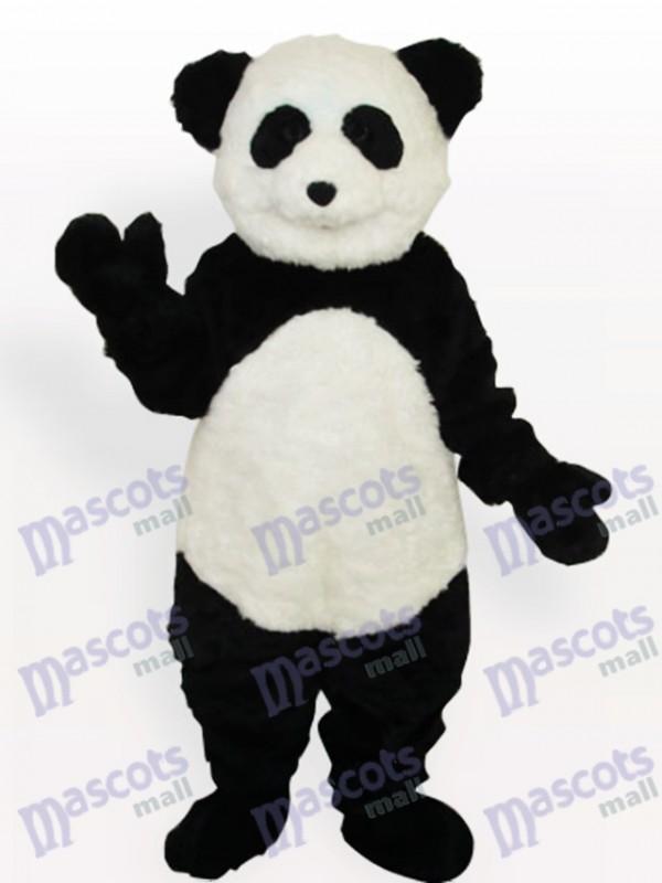 Costume de mascotte adulte longue Panda souriant
