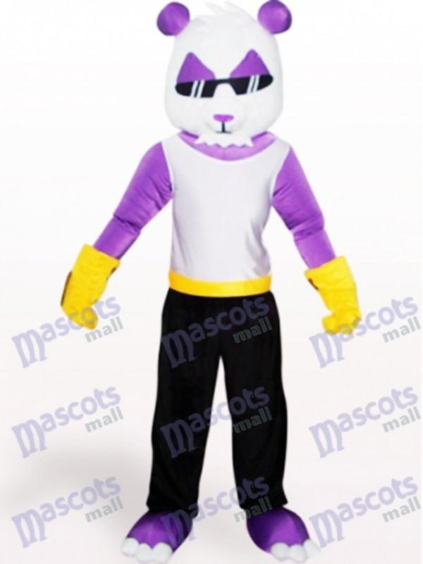 Costume de mascotte adulte pourpre animal Panda