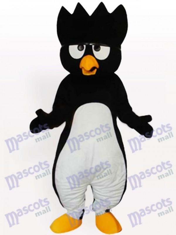 Costume de mascotte adulte de pingouin noir ventre blanc