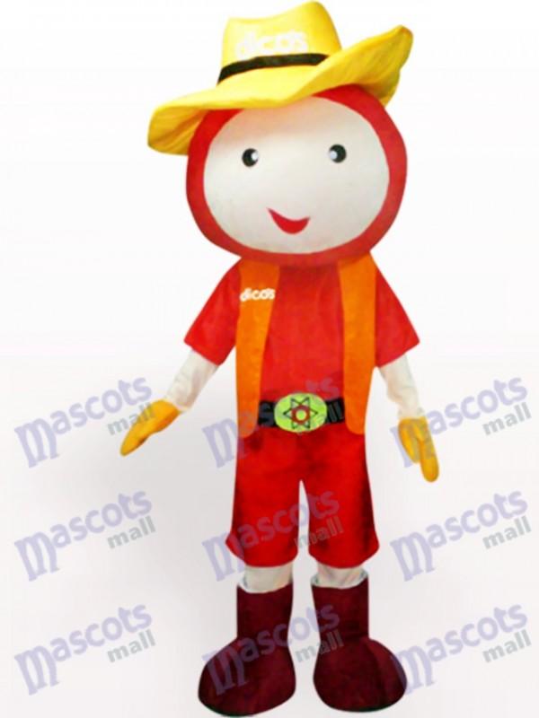 Poupée de chapeau de paille Costume de mascotte adulte en peluche