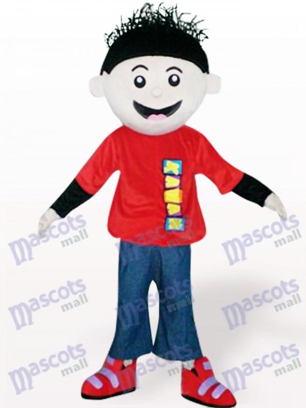 Costume de mascotte adulte Cartoon garçon rouge