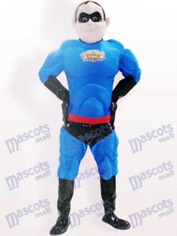 Costume de mascotte adulte de bande dessinée de Bengaline de super homme de polyester