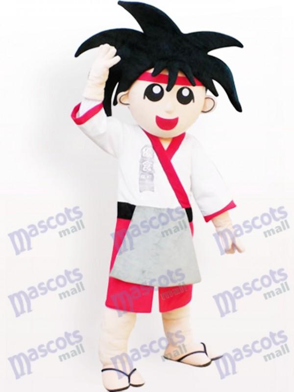 Costume de mascotte adulte de dessin animé garçon japonais