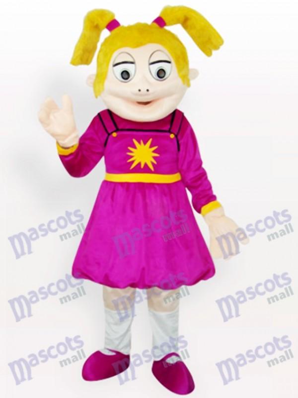 Costume de mascotte adulte de la bande dessinée fille qui rit