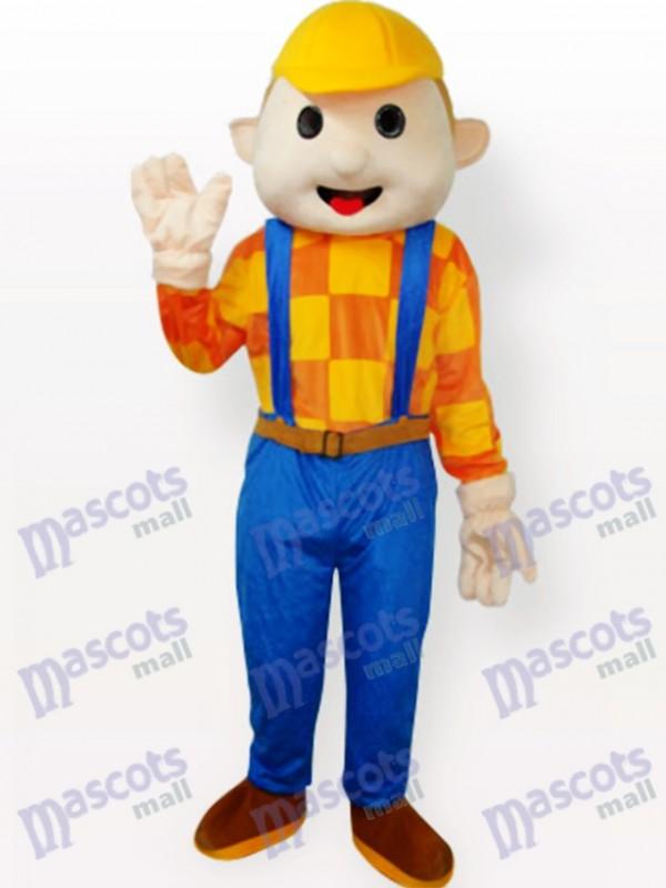 Costume de mascotte adulte Cartoon jaune chapeau garçon