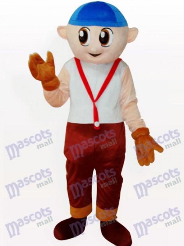 Costume de mascotte adulte garçon de bande dessinée