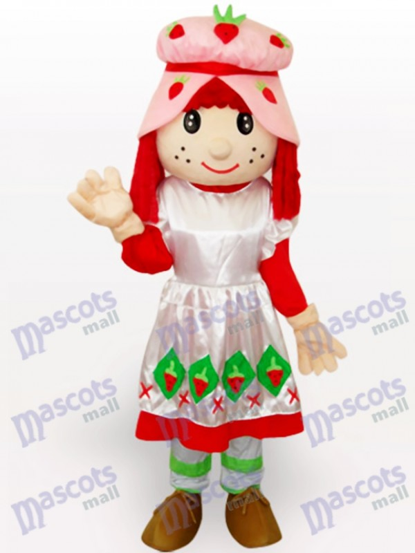 Costume de mascotte adulte Cartoon Strawberry Shortcake Girl