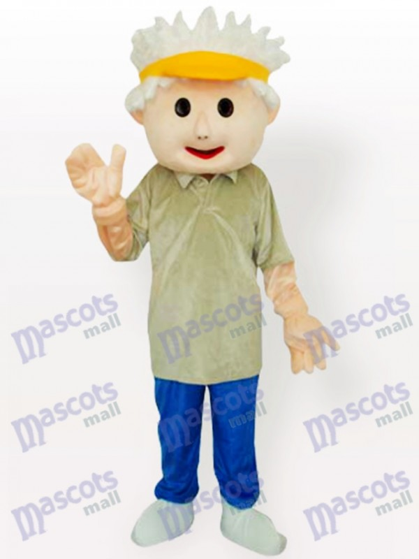 Costume de mascotte adulte de Golf Boy