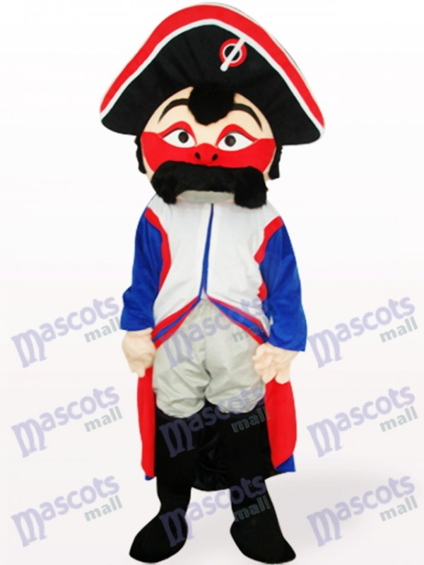 Costume de mascotte adulte pirate rouge visage