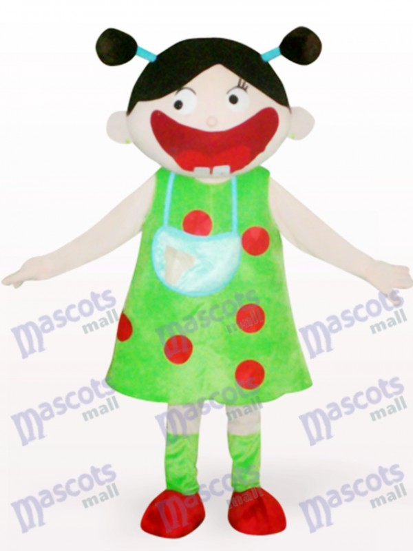 Costume de mascotte adulte de dessin animé de fille arabe