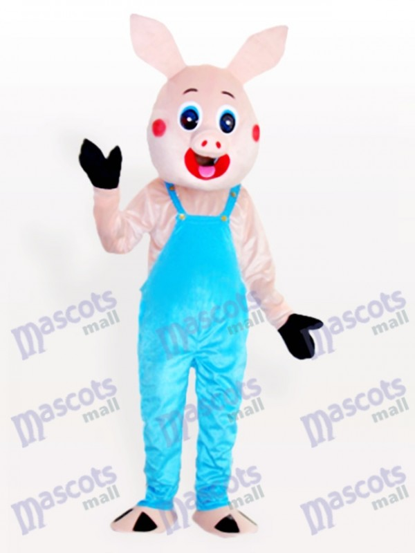 M. Cochon en débardeur Bib pour adulte Mascotte