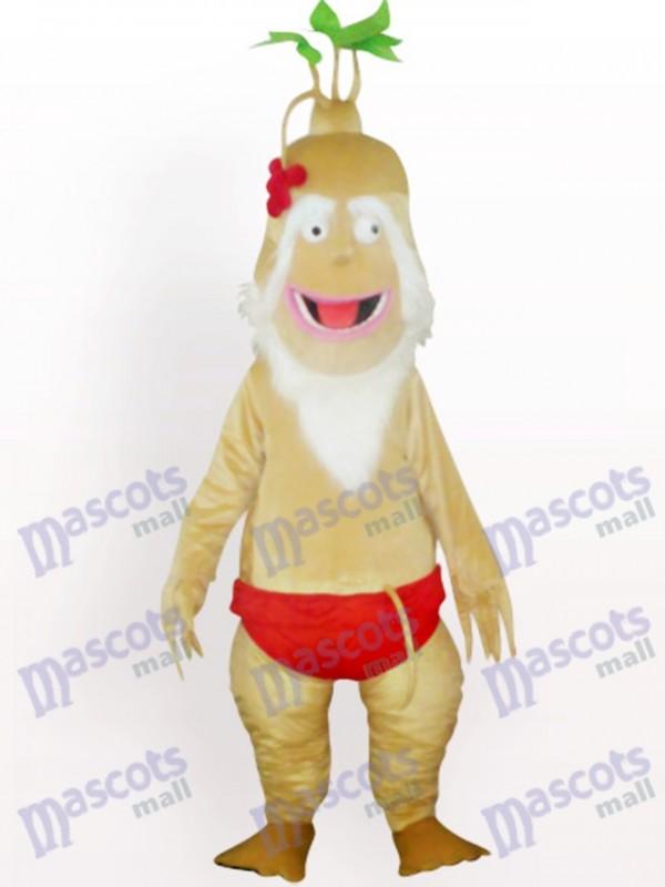 Costume de mascotte adulte vieille usine de ginseng