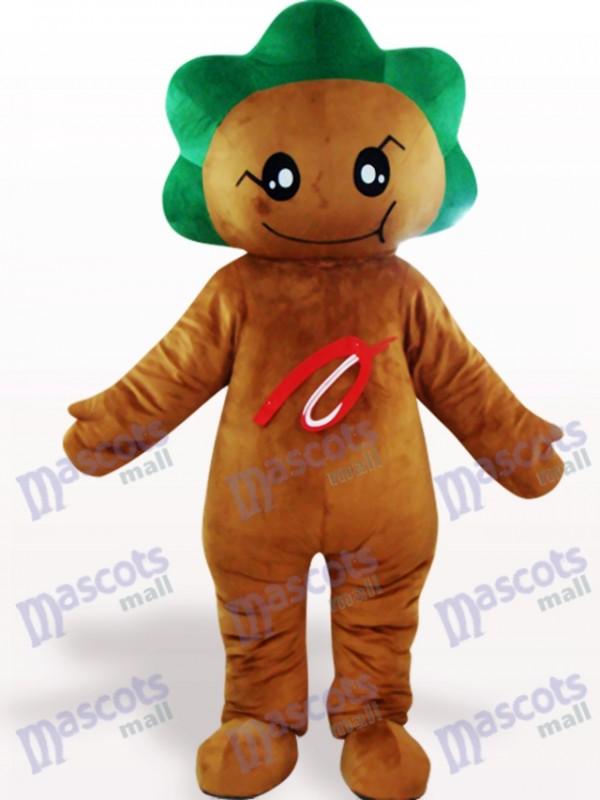 Costume de mascotte adulte fleur de feuille brun foncé