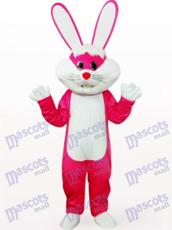 Lapin de Pâques en costume de mascotte animale Rose vêtements