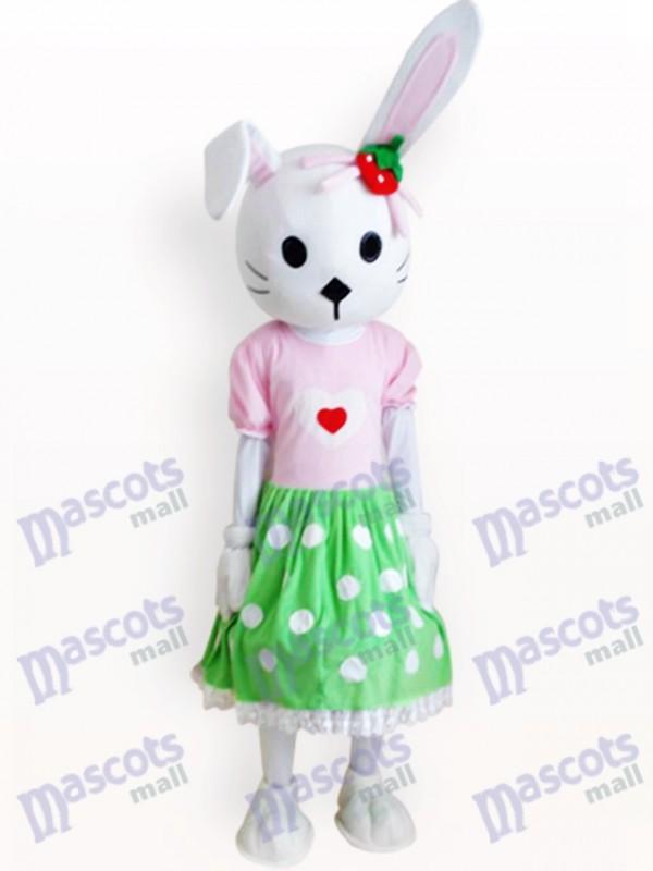 Costume de mascotte adulte de lapin de lapin de Pâques
