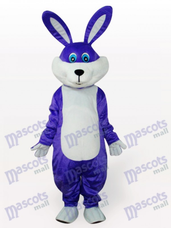 Costume de mascotte adulte lapin de lapin de Pâques pourpre
